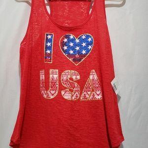 Tops - I Heart USA Tank Top